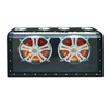 "Absolute HFD2127 1000W Max, Dual 12"" Subwoofer Box with Chrome Grills and LED Lighting"