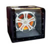 "Absolute HFS1127 500W Max, Single 12"" Subwoofer Box with Chrome Grill and LED Lighting"
