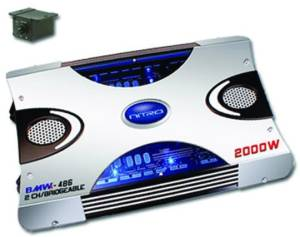 10343 nitro bmw 486 2000w max, 2 channel car amplifier with bass remote nitro bmw 2 way wiring diagram at gsmportal.co
