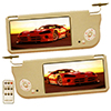 "Absolute SVC-900PKG Pair of Cream 9"" LCD Flipdown Sunvisor Monitors"