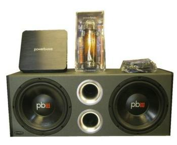 "PowerBass PS-PP12 Compleete Dual 12"" 550W Subwoofer System"