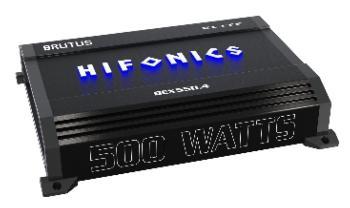 Hifonics BEX550.4 4 Channel Super A/B Class Amplifier 500 Watts