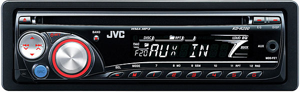 jvc kd r200 in dash cd mp3 wma receiver with remote and. Black Bedroom Furniture Sets. Home Design Ideas